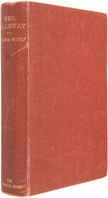 Books:First Editions, Virginia Woolf. Mrs. Dalloway. London: The Hogarth Press,1925.. First edition. Octavo. 293 pages....