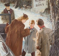 Mainstream Illustration, HARRY ANDERSON (American, 1906-1996). Off to School. Oil onboard. 19 x 20 in.. Signed lower right. From the Estate ...