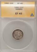 Coins of Hawaii: , 1883 10C Hawaii Ten Cents XF45 ANACS. NGC Census: (25/203). PCGSPopulation (57/291). Mintage: 250,000. (#10979)...