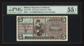 Military Payment Certificates:Series 661, Series 661 $5 PMG About Uncirculated 55 EPQ.. ...