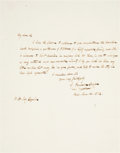 """Autographs:Authors, James Fenimore Cooper Autograph Letter Signed. One page with integral address leaf, 7.25"""" x 9"""", Paris, January 12, 1832. ..."""