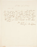 Autographs:Authors, Henry Wadsworth Longfellow Letter Signed. Two pages includingintegral address leaf, penned on recto of first page only, 7.7...