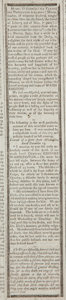 Miscellaneous:Newspaper, [Death of George Washington] Newspaper: Federal Gazette &Baltimore Daily Advertiser. A rare newspaper account of th...