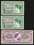 Military Payment Certificates:Series 651, Series 651 $1 Two Examples. Series 651 $10.. ... (Total: 3 notes)