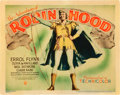 """Movie Posters:Swashbuckler, The Adventures of Robin Hood (Warner Brothers, 1938). Title Lobby Card (11"""" X 14"""").. ..."""