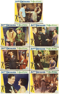 "The Big Pond (Paramount, 1930). Lobby Cards (7) (11"" X 14""). ... (Total: 7 Items)"