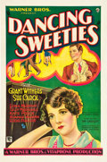 "Movie Posters:Comedy, Dancing Sweeties (Warner Brothers, 1930). One Sheet (27"" X 41"").. ..."