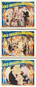 "Movie Posters:Musical, Gold Diggers of Broadway (Warner Brothers, 1929). Lobby Cards (3) (11"" X 14"").. ... (Total: 3 Items)"