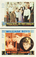 """Movie Posters:Adventure, His First Command (Pathé, 1929). Title Lobby Card and Lobby Card(11"""" X 14"""").. ... (Total: 2 Items)"""