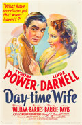 "Movie Posters:Comedy, Day-time Wife (20th Century Fox, 1939). One Sheet (27"" X 41"").. ..."