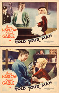 "Movie Posters:Drama, Hold Your Man (MGM, 1933). Lobby Cards (2) (11"" X 14"").. ...(Total: 2 Items)"