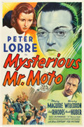 "Movie Posters:Mystery, Mysterious Mr. Moto (20th Century Fox, 1938). One Sheet (27"" X41"").. ..."