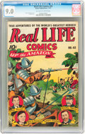 Golden Age (1938-1955):Miscellaneous, Real Life Comics #42 (Nedor Publications, 1947) CGC VF/NM 9.0 Off-white to white pages....