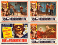 "Movie Posters:Horror, Son of Frankenstein (Realart, R-1953). CGC Graded Lobby Card Set of4 (11"" X 14"").. ... (Total: 4 Items)"