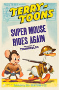 """Movie Posters:Animation, Super Mouse Rides Again (20th Century Fox, 1943). Stock One Sheet(27"""" X 41"""").. ..."""