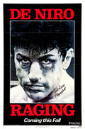 "Movie Posters:Drama, Raging Bull (United Artists, 1980). Autographed Advance One Sheet (27"" X 41"").. ..."