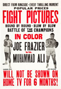 "Movie Posters:Sports, Frazier vs Ali Fight (Cinerama Releasing, 1971). One Sheet (27"" X 41"").. ..."