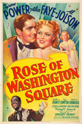 "Movie Posters:Musical, Rose of Washington Square (20th Century Fox, 1939). One Sheet (27"" X 41"") Style B.. ..."