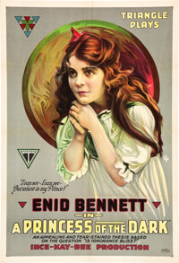 "A Princess of the Dark (Triangle, 1917). One Sheet (27"" X 41"")"