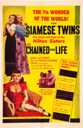 """Movie Posters:Exploitation, Chained For Life (Classic Pictures, 1951). One Sheet (27"""" X 41"""").. ..."""