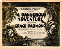 "A Dangerous Adventure (Warner Brothers, 1922). Title Lobby Card and Lobby Cards (3) (11' X 14""). ... (Total: 4 Item..."