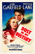 "Movie Posters:Drama, Dust Be My Destiny (Warner Brothers, 1939). One Sheet (27"" X 41"")....."