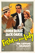 """Movie Posters:Comedy, Fight for Your Lady (RKO, 1937). One Sheet (27"""" X 41"""").. ..."""