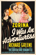 "Movie Posters:Crime, I Was an Adventuress (20th Century Fox, 1940). One Sheet (27"" X41"").. ..."