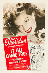 """It All Came True (Warner Brothers, 1940). One Sheet (27"""" X 41"""")"""