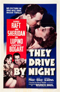 "Movie Posters:Drama, They Drive by Night (Warner Brothers, 1940). One Sheet (27"" X41"").. ..."