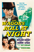 """Movie Posters:Drama, The Wagons Roll at Night (Warner Brothers, 1941). One Sheet (27"""" X41"""").. ..."""