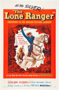 """Movie Posters:Western, The Lone Ranger (Warner Brothers, 1956). One Sheet (27"""" X 41"""")....."""