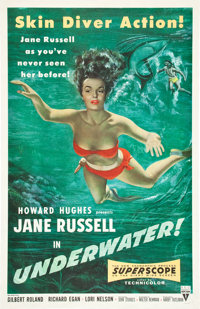 "Underwater! (RKO, 1955). One Sheet (27"" X 41"")"