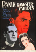 "Movie Posters:Crime, Angels with Dirty Faces (Warner Brothers, 1938). Swedish One Sheet(27.25"" X 39.5"").. ..."