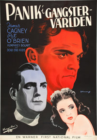 "Angels with Dirty Faces (Warner Brothers, 1938). Swedish One Sheet (27.25"" X 39.5"")"