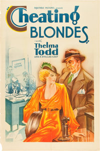 "Cheating Blondes (Equitable Pictures, 1933). One Sheet (27"" X 41"")"