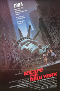 "Escape from New York (Avco Embassy, 1981). One Sheet (27"" X 41"") and Lobby Card Set (8) (11' X 14"")..."