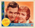 "Movie Posters:Comedy, It Happened One Night (Columbia,1935). Lobby Card (11"" X 14"").. ..."