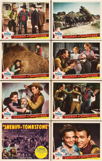 """Sheriff of Tombstone (Republic, 1941). Lobby Card Set of 8 (11"""" X 14""""). ... (Total: 8 Items)"""