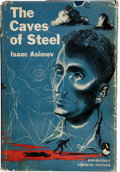Books:First Editions, Isaac Asimov: The Caves of Steel. Garden City, New York:Doubleday, 1954. First edition. Octavo. 224 pages. Jacket i...