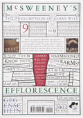 Books:Signed Editions, Dave Eggers, editor. McSweeney's No. 9. The Presumption of Good Will. [San Francisco]: [McSweeney's], [2002]. Fi...
