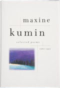 Books:Signed Editions, Maxine Kumin. Selected Poems. 1960-1990. New York London: W. W. Norton & Company, [1997]. First edition. Signe...