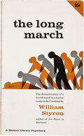 Books:Signed Editions, William Styron. The Long March. New York: Modern Library Paperbacks / Random House, [1952]. Signed by the author o...