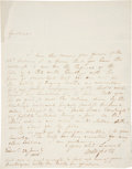 "Autographs:Authors, [Jonathan Swift] Walter Scott Autograph Letter Signed. One page, penned on recto only, 7.75"" x 9.75"", June 28, 1808. ..."