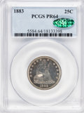 Proof Seated Quarters, 1883 25C PR64 PCGS. CAC....
