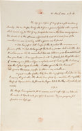 """Autographs:U.S. Presidents, John Quincy Adams Autograph Letter with Free Frank Signature (""""John Quincy Adams / S[enator].U.S."""") One page, 7.... (Total: 3 Items)"""