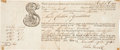 "Miscellaneous:Ephemera, Ship's Bill of Lading, 1743. One page, 9.75"" x 4"", Newcastle,November 29, 1743. Being a receipt for a shipment of""Thirty..."