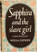 Books:Fiction, Willa Cather. Sapphira and the Slave Girl. New York: Alfred A. Knopf, 1940. Book Club edition. Bright green cloth wi...