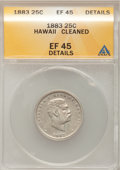 Coins of Hawaii: , 1883 25C Hawaii Quarter--Cleaned--ANACS. XF45 Details. NGC Census:(19/873). PCGS Population (80/1359). Mintage: 500,000. ...