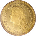 Proof Four Dollar Gold Pieces, 1879 $4 Flowing Hair, Judd-1635, Pollock-1833, R.3, PR65 Deep Cameo PCGS....
